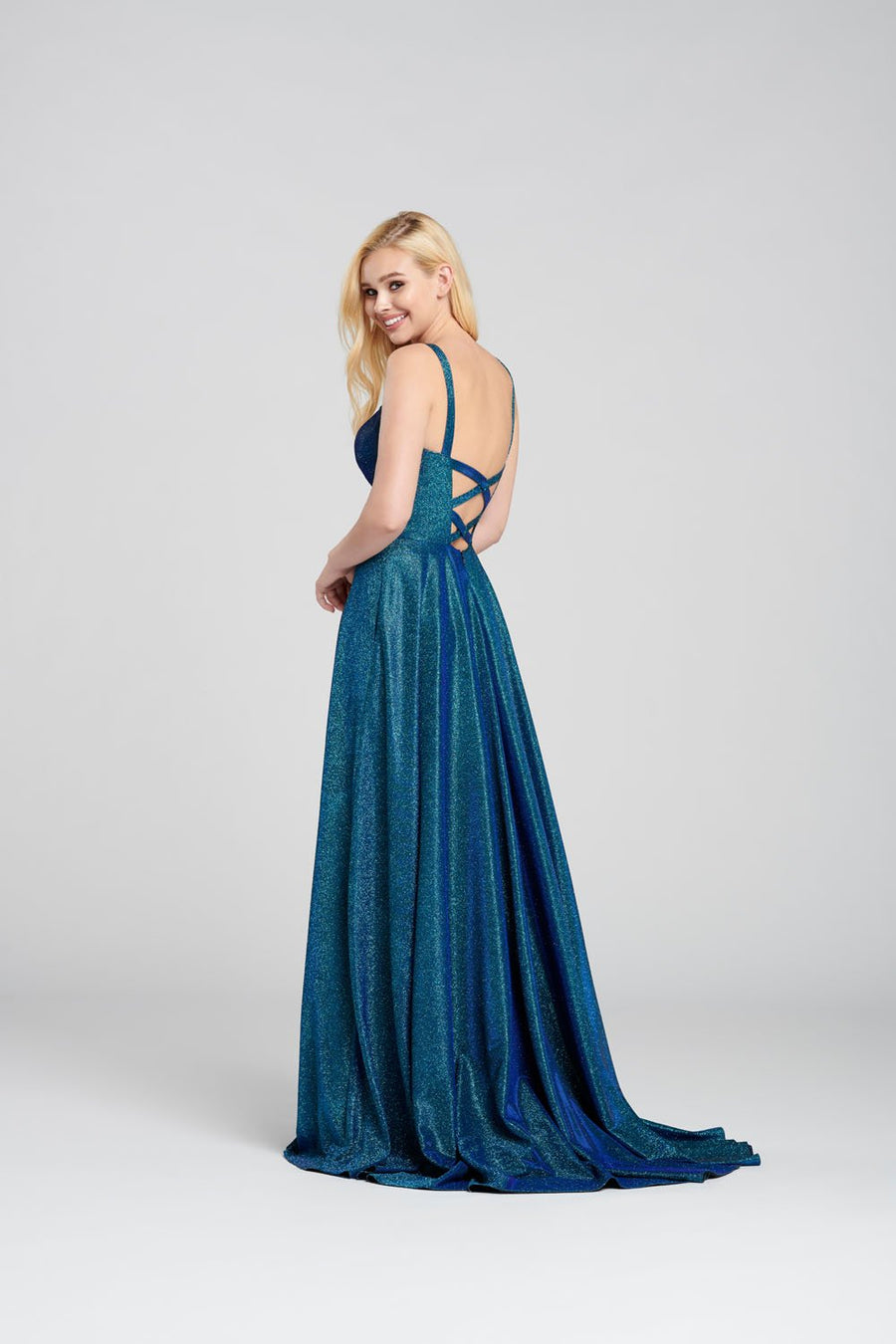 Ellie Wilde EW120110 prom dress images.  Ellie Wilde EW120110 is available in these colors: Royal Blue, Platinum, Magenta, Dark Teal .