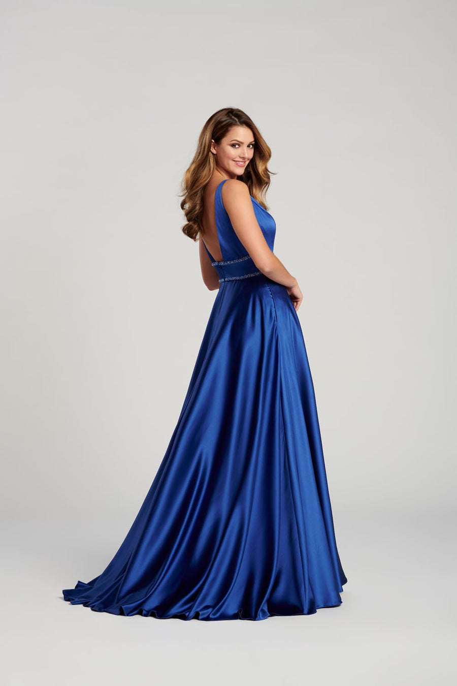 Ellie Wilde EW120113 prom dress images.  Ellie Wilde EW120113 is available in these colors: Sapphire, Red, Teal .