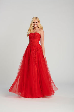 Ellie Wilde EW120116 prom dress images.  Ellie Wilde EW120116 is available in these colors: Red, Pink, Light Blue .