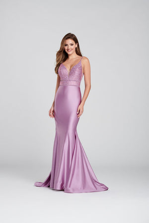 Ellie Wilde EW120117 prom dress images.  Ellie Wilde EW120117 is available in these colors: Lilac, Navy Blue, Powder Blue, Ruby .