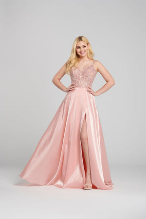 Ellie Wilde EW120118 prom dress images.  Ellie Wilde EW120118 is available in these colors: Lilac, Light Peach.
