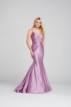 Ellie Wilde EW120119 prom dress images.  Ellie Wilde EW120119 is available in these colors: Lilac, Jade, Red, Black.