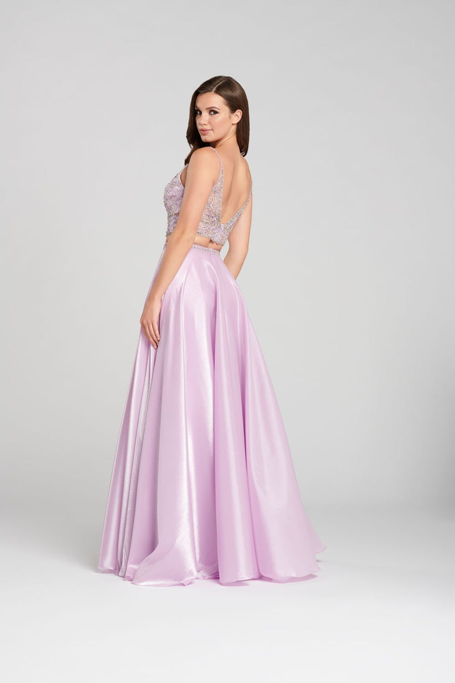 Ellie Wilde EW120120 prom dress images.  Ellie Wilde EW120120 is available in these colors: Lilac, Periwinkle.