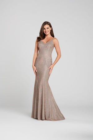 Ellie Wilde EW120127 prom dress images.  Ellie Wilde EW120127 is available in these colors: Bronze, Black.