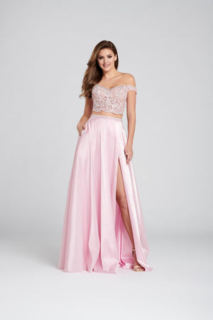 Ellie Wilde EW120134 prom dress images.  Ellie Wilde EW120134 is available in these colors: Pink, Periwinkle.