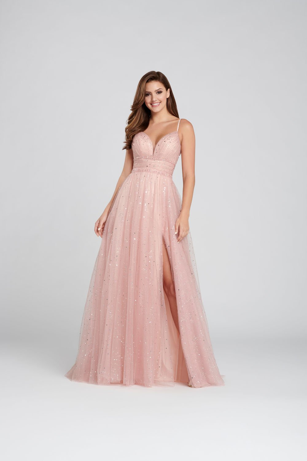 Ellie Wilde EW120136 prom dress images.  Ellie Wilde EW120136 is available in these colors: English Rose, Periwinkle .
