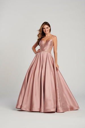 Ellie Wilde EW120137 prom dress images.  Ellie Wilde EW120137 is available in these colors: Royal Blue, Rose Gold, Black, Magenta .