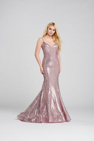 Ellie Wilde EW120138 prom dress images.  Ellie Wilde EW120138 is available in these colors: Pink, Aqua, Navy Blue .