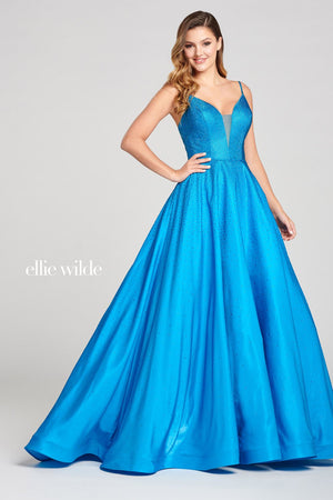 Ellie Wilde EW121005 prom dress images.  Ellie Wilde EW121005 is available in these colors: Turquoise, Amethyst, Lapis, Sapphire, Ruby.