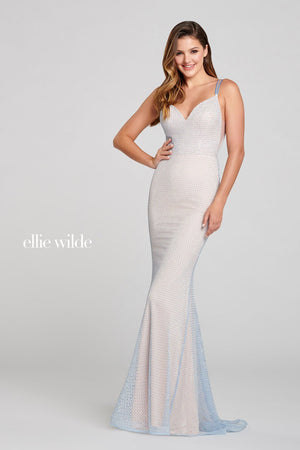 Ellie Wilde EW121025 prom dress images.  Ellie Wilde EW121025 is available in these colors: Opal.