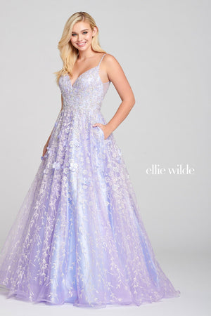 Ellie Wilde EW121026 prom dress images.  Ellie Wilde EW121026 is available in these colors: Lilac.