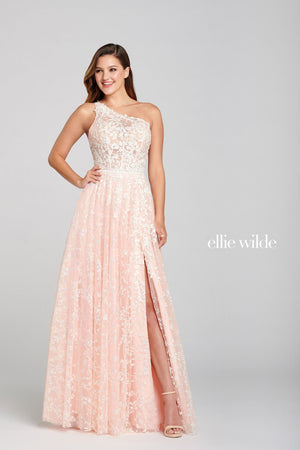 Ellie Wilde EW121030 prom dress images.  Ellie Wilde EW121030 is available in these colors: Pink Sand.