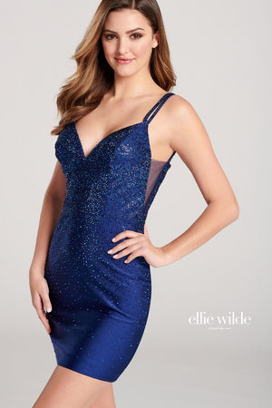 Ellie Wilde EW22036S prom dress images.  Ellie Wilde EW22036S is available in these colors: Royal Blue, Ruby, Black, Navy Blue, Emerald, English Rose.