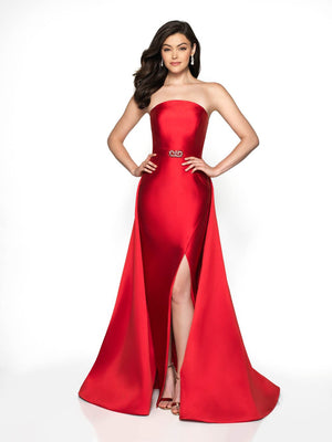 Flair Prom 19089 prom dress images.  Flair Prom 19089 is available in these colors: Navy, Red, Black, Emerald, Purple, Diamond White.