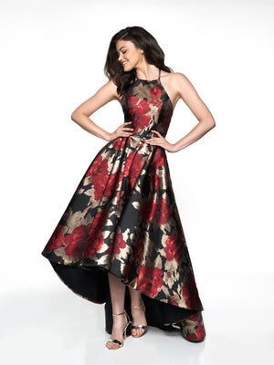 Flair Prom 19092 prom dress images.  Flair Prom 19092 is available in these colors: Black Red, Black Lavender.