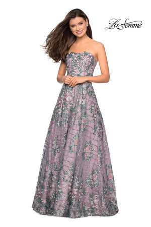 Gigi by La Femme 27683 prom dress images.  Gigi by La Femme 27683 is available in these colors: Mauve.