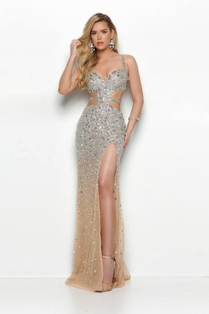 Jasz Couture 4109C prom dress images.  Jasz Couture 4109C is available in these colors: Nude.