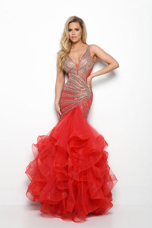 Jasz Couture 7000 prom dress images.  Jasz Couture 7000 is available in these colors: Red, White.