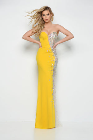 Jasz Couture 7007 prom dress images.  Jasz Couture 7007 is available in these colors: Red, Black, Yellow.