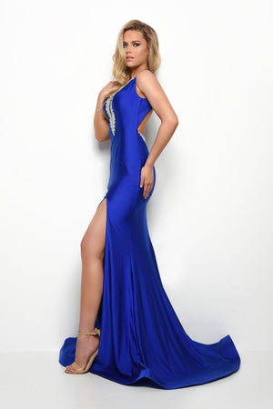 Jasz Couture 7016 prom dress images.  Jasz Couture 7016 is available in these colors: Black, Royal.