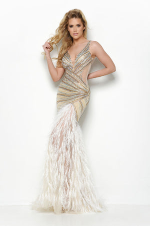 Jasz Couture 7021 prom dress images.  Jasz Couture 7021 is available in these colors: Nude, Black.