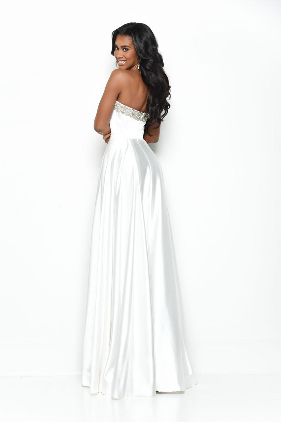 Jasz Couture 7030 prom dress images.  Jasz Couture 7030 is available in these colors: White.