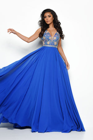 Jasz Couture 7031 prom dress images.  Jasz Couture 7031 is available in these colors: Royal, Red.