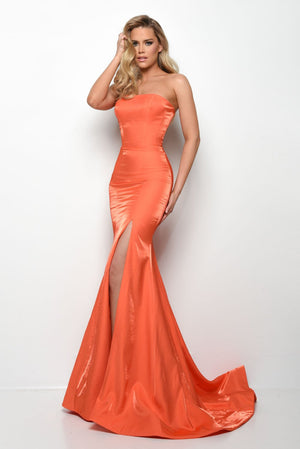 Jasz Couture 7035 prom dress images.  Jasz Couture 7035 is available in these colors: Orange, Turquoise.