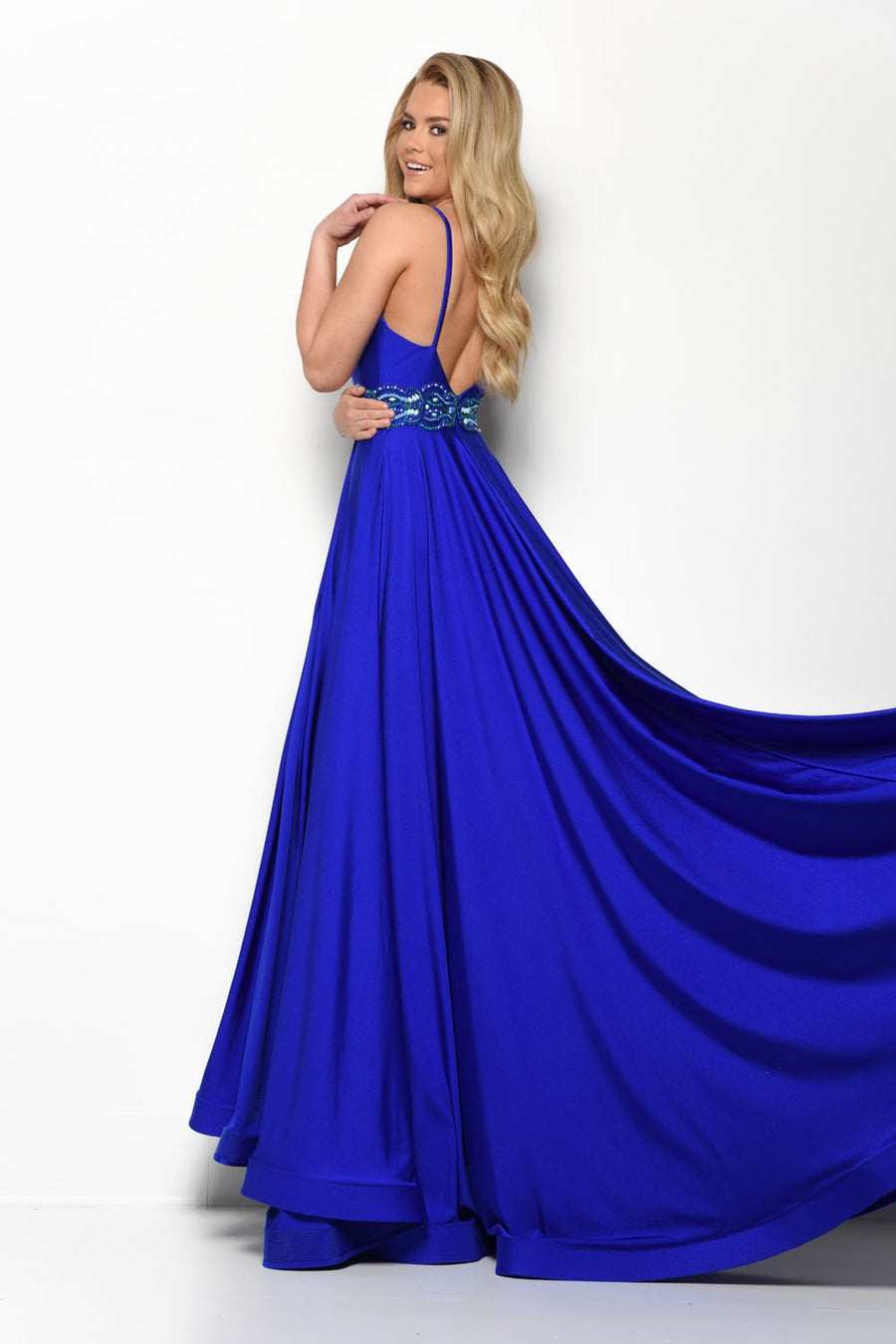 Jasz Couture 7052 prom dress images.  Jasz Couture 7052 is available in these colors: Periwinkle, Royal, Red.