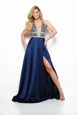 Jasz Couture 7055 prom dress images.  Jasz Couture 7055 is available in these colors: Magenta, Navy.