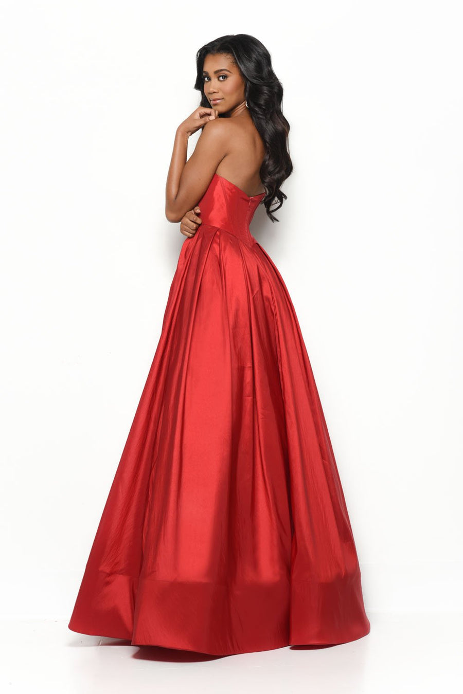 Jasz Couture 7059 prom dress images.  Jasz Couture 7059 is available in these colors: Red, Ivory.