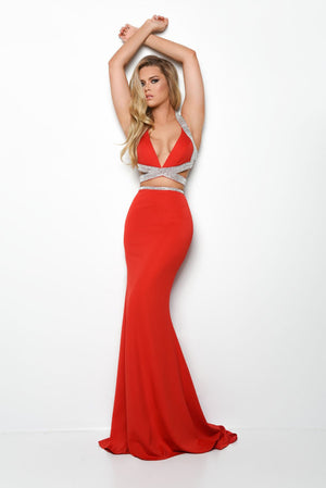 Jasz Couture 7063 prom dress images.  Jasz Couture 7063 is available in these colors: Black, Red.
