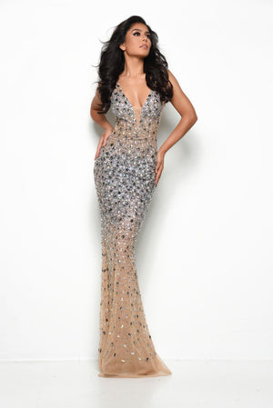 Jasz Couture 7077 prom dress images.  Jasz Couture 7077 is available in these colors: Black, Nude.