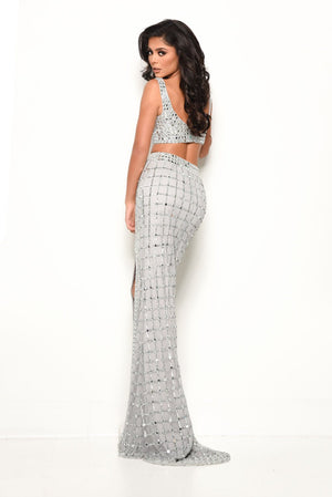 Jasz Couture 7091 prom dress images.  Jasz Couture 7091 is available in these colors: Silver.