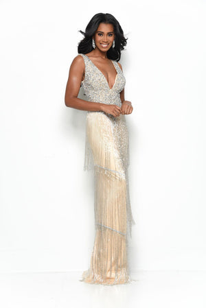Jasz Couture 7098 prom dress images.  Jasz Couture 7098 is available in these colors: Nude.