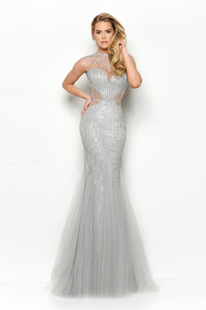 Jasz Couture 7099 prom dress images.  Jasz Couture 7099 is available in these colors: Silver, Gold, Red.