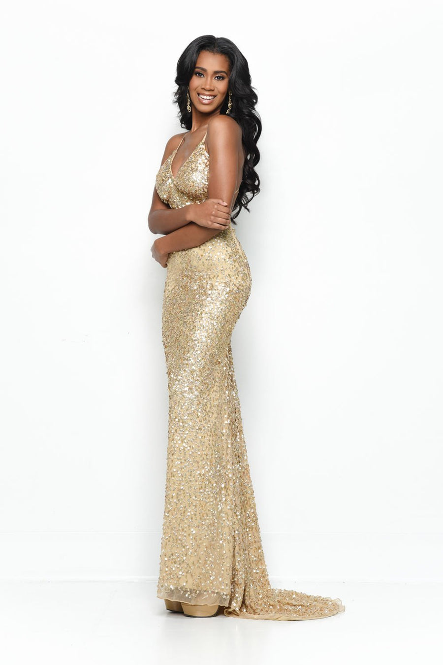 Jasz Couture 7113 prom dress images.  Jasz Couture 7113 is available in these colors: Gold, Ice Blue, Silver, White.