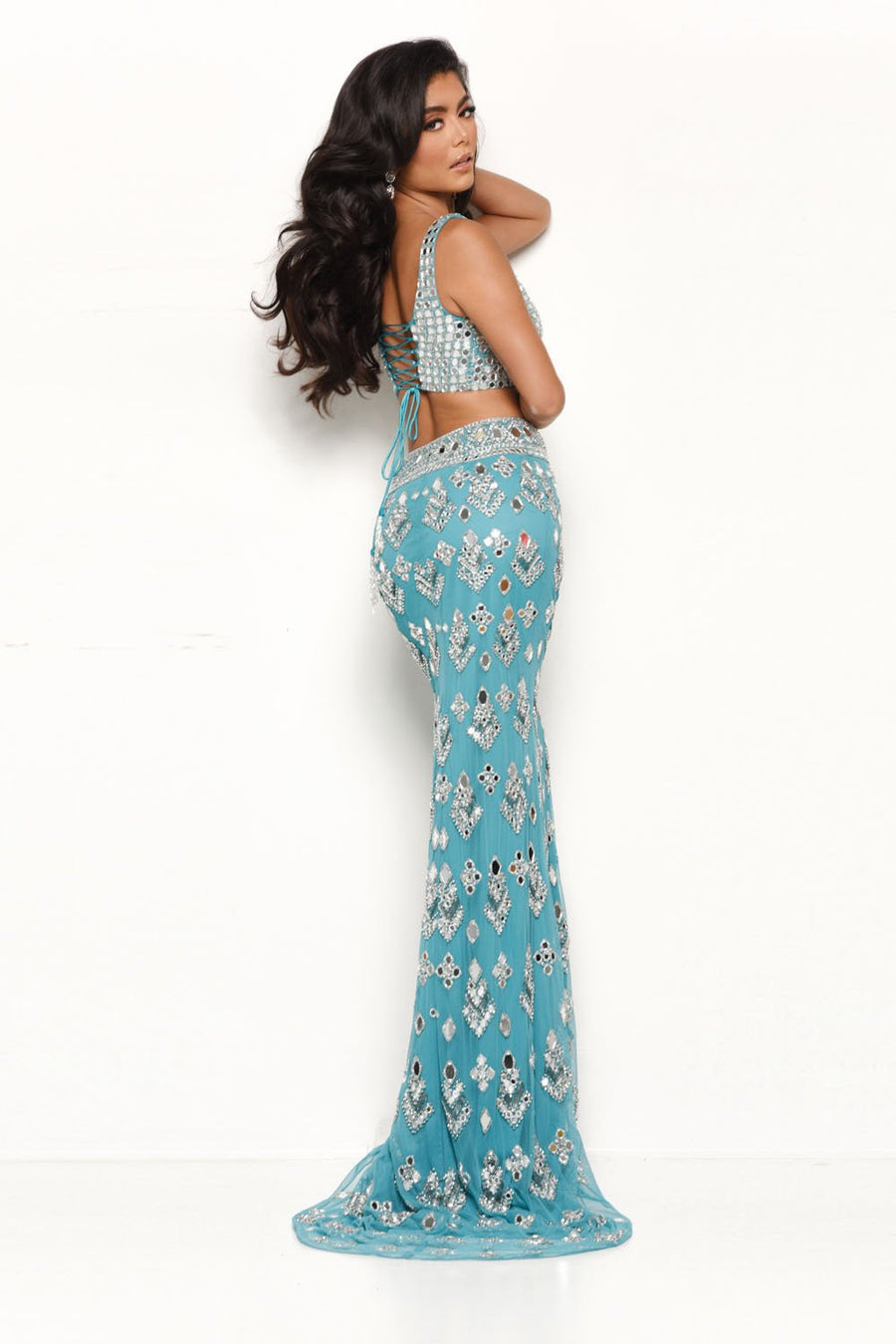 Jasz Couture 7114 prom dress images.  Jasz Couture 7114 is available in these colors: Water.
