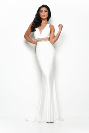 Jasz Couture 7119 prom dress images.  Jasz Couture 7119 is available in these colors: Ivory, Black Rose.