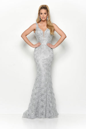 Jasz Couture 7122 prom dress images.  Jasz Couture 7122 is available in these colors: Silver, Gold.