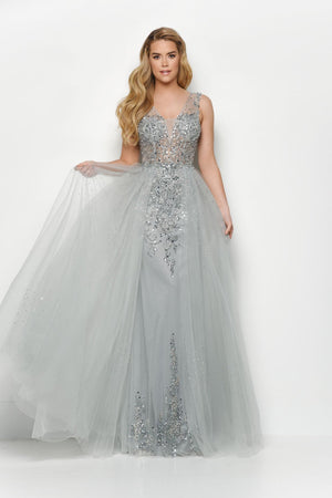 Jasz Couture 7123 prom dress images.  Jasz Couture 7123 is available in these colors: Silver.
