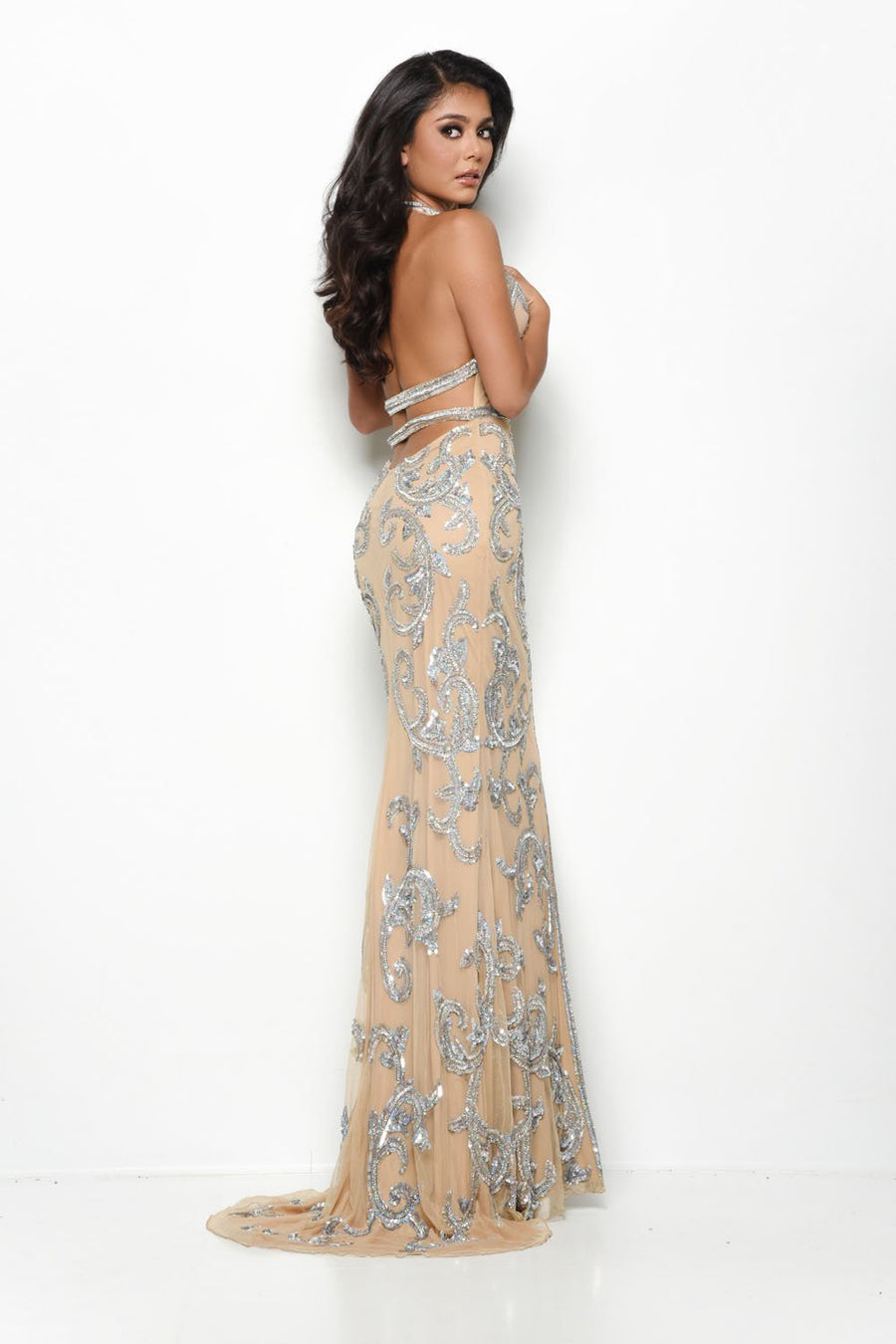 Jasz Couture 7124 prom dress images.  Jasz Couture 7124 is available in these colors: Nude.