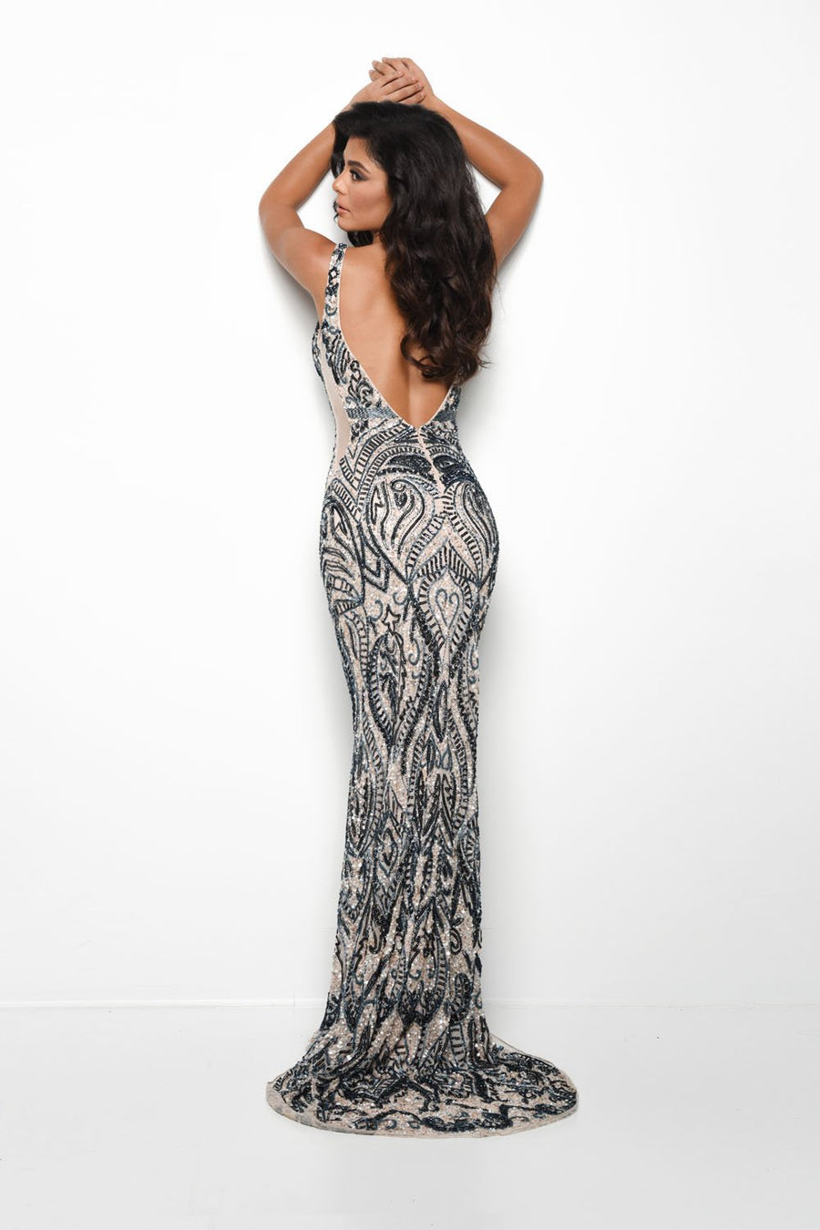 Jasz Couture 7125 prom dress images.  Jasz Couture 7125 is available in these colors: Nude Navy.