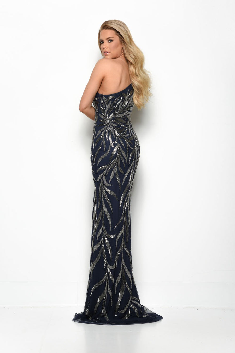 Jasz Couture 7126 prom dress images.  Jasz Couture 7126 is available in these colors: Ivory Gold, Navy, Nude.