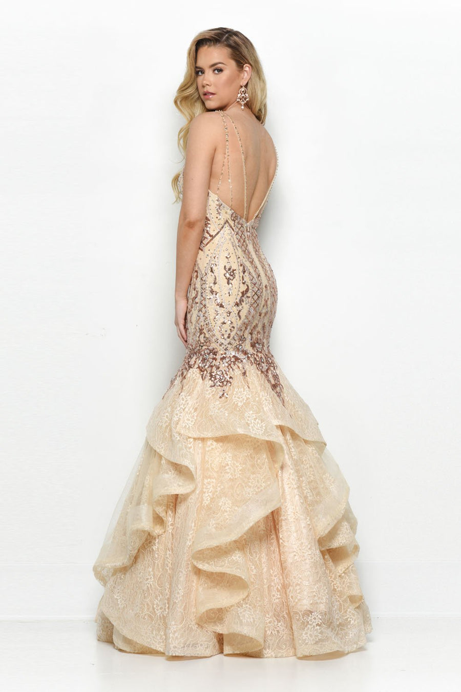 Jasz Couture 7130 prom dress images.  Jasz Couture 7130 is available in these colors: Black, Champagne, Navy.