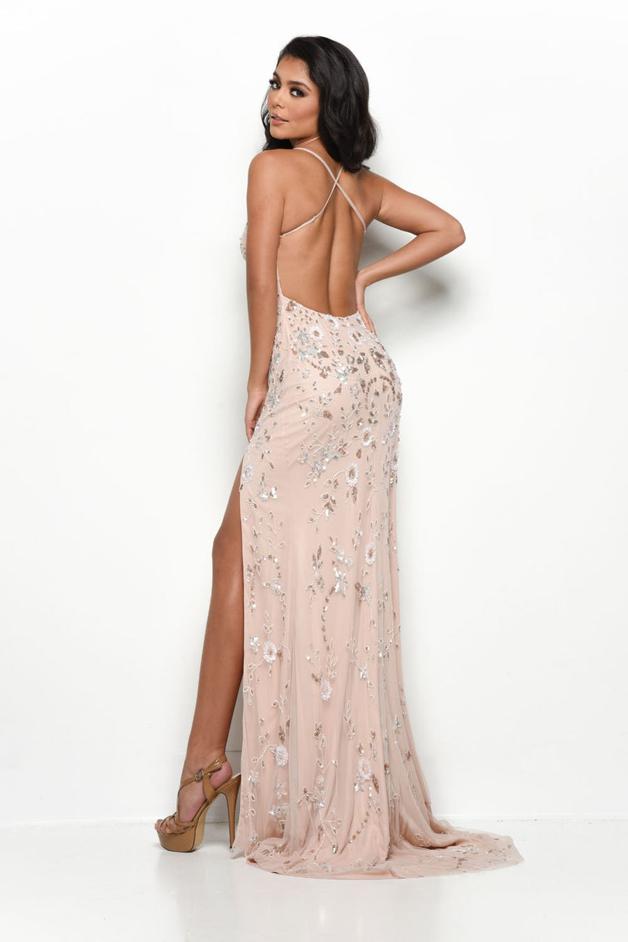 Jasz Couture 7134 prom dress images.  Jasz Couture 7134 is available in these colors: Blush, Fuchsia.