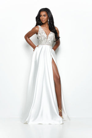 Jasz Couture 7135 prom dress images.  Jasz Couture 7135 is available in these colors: Ivory, Red, Royal, Yellow.