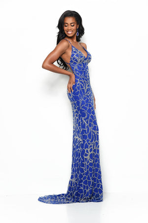 Jasz Couture 7145 prom dress images.  Jasz Couture 7145 is available in these colors: Royal.