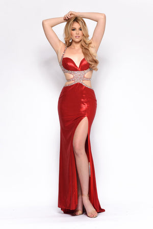 Jasz Couture 7147 prom dress images.  Jasz Couture 7147 is available in these colors: Black, Red.