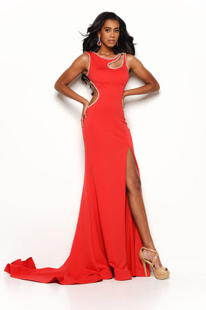 Jasz Couture 7155 prom dress images.  Jasz Couture 7155 is available in these colors: Black, Red.